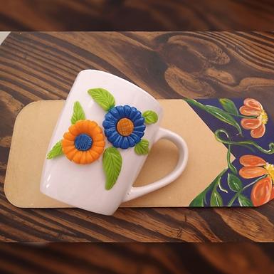 Tabla de madera y taza de cerámica - Matria Diseños