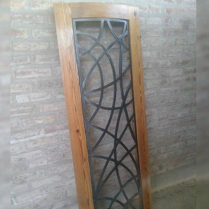 Estructura curva para vitral - Herrería Hefesto. Arte-metal