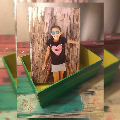 Caja con foto - Vero Taller de Pintura y Artesanias