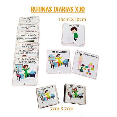 Rutina Diarias x30 7x7 cm  - Huella Lúdica