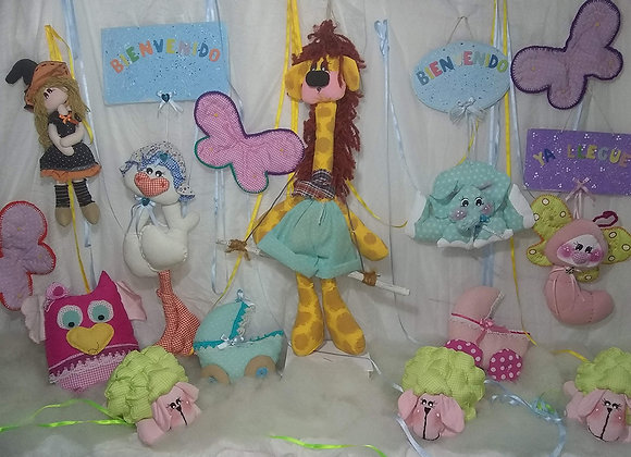 Muñecos en tela - Sofía artesanías
