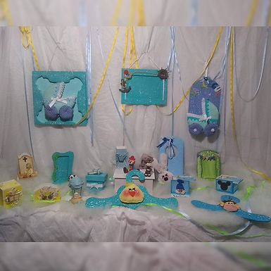 Colgantes decorativos para nacimiento - Nenes - Sofía artesanías