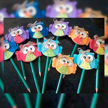 Lápices decorados - Lulilour Artesanías