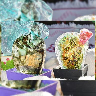 Cactus c/u vitrofusion, reciclados - Piuambar
