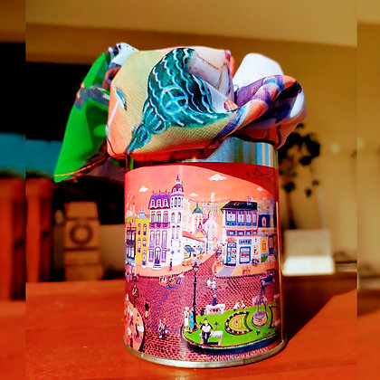 Pashmina + Latas decoradas - Contigo Naif