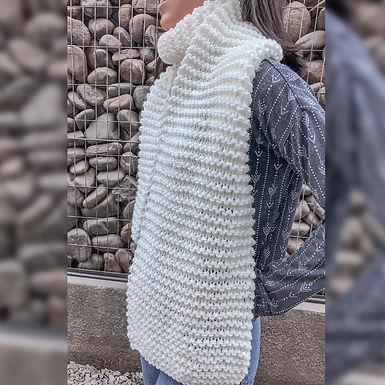 Maxi bufanda color blanco - Wool Hugs
