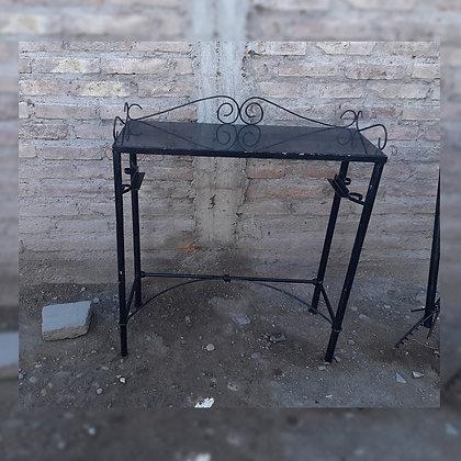 Mesa rectangular con piedra granito - Metalúrgica Ramírez
