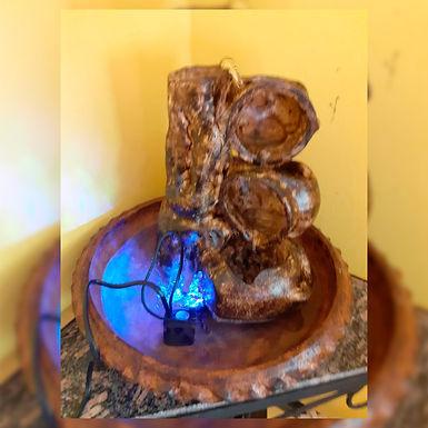 Fuente de agua con luz - Maly Regalaría artesanal