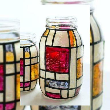 Frascos pintados - Rosan Arte y Deco