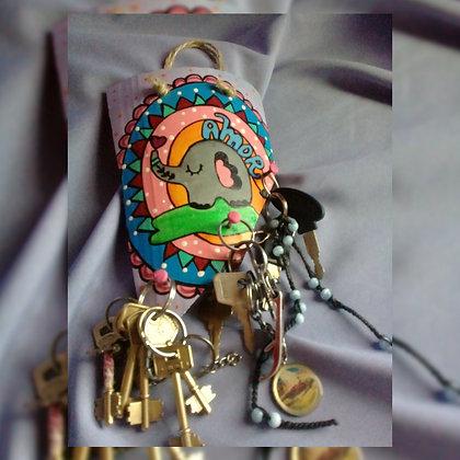 Porta llaves de cerámica - Tejitas