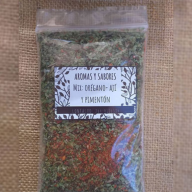 Mix orégano, ají y pimentón - Aromas y Sabores