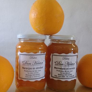 Naranjas en Almibar - Dulces y Conservas Don Héctor