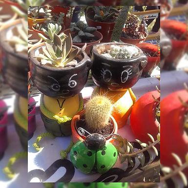 Macetas decoradas - Viverito Artesanal