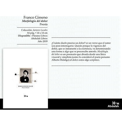 Morfologia del dolor - Abdulah Libros