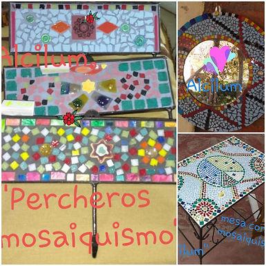 Mesa mosaiquismo - Alcilum artesanías