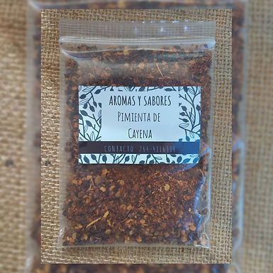 Pimienta Cayena roja - Aromas y Sabores