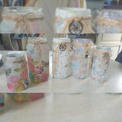 Frascos decorados - 1 - Taller Arcoiris