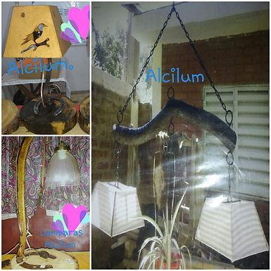Lámpara colgante - Alcilum artesanías