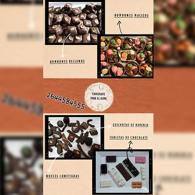 Bombones rellenos - Chocolate para el Alma. Bombones Artesanales