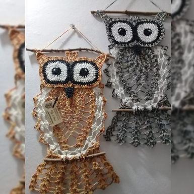 Búhos a crochet en hilo de algodón - Yu Ame