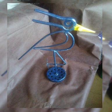 Figura Ave zancuda - Tero - El Curita Gaucho Taller de Artesa