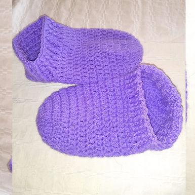 Zoquetes tejidos a crochet - Atelier Las Flores
