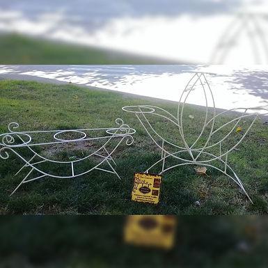 Porta maceta en forma de trébol - Don Casivar Herrería Artesanal