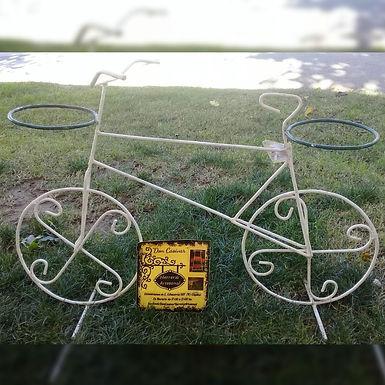 Porta maceta en forma de bicicleta - Don Casivar Herrería Artesanal