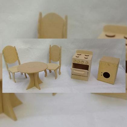 Muebles para casa de muñecas - Sueños y Fantasías