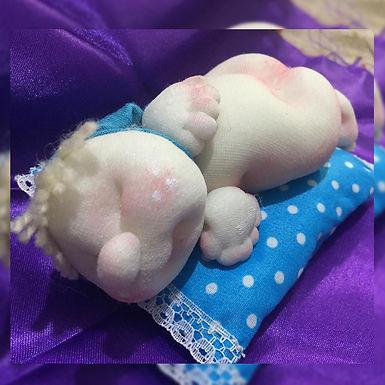 Souvenir bebe durmiendo - Ojitos Picarones