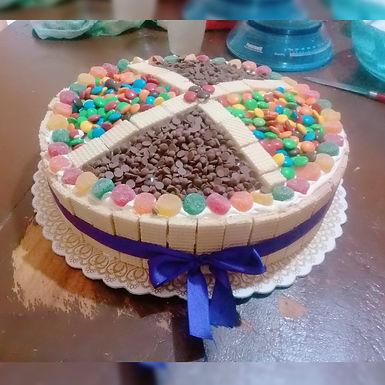 Torta de golosinas de 4 kg - Dulzuras Abu Rosa