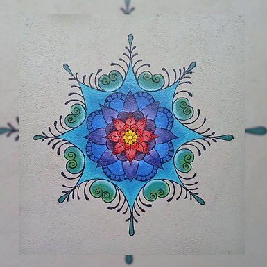 Mandalas: Pintura Mural (el metro cuadrado) - Círculo Sagrado