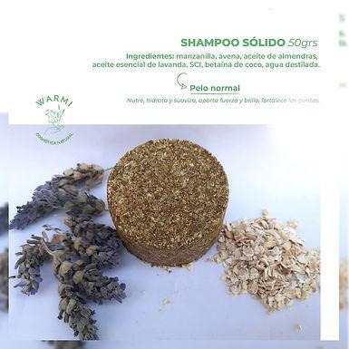 Shampoo sólido - Pelo Normal - Warmi Cosmética Natural