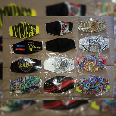 Tapabocas personalizados - 1 - Ideas Sublimadas