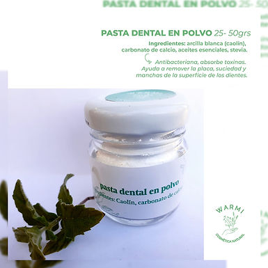 Pasta dental en polvo - Warmi Cosmética Natural