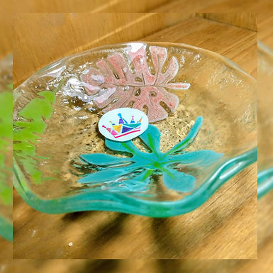 Pieza utilitaria 6 unidades - Reina de Cristales -Vitrofusión