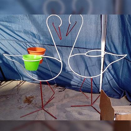 Porta maceta en forma de cisne - Don Casivar Herrería Artesanal