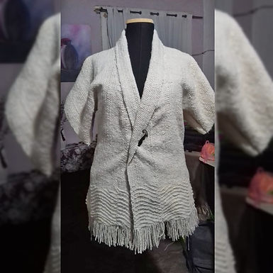 Saco blanco - Tejido Tradicional Patricia Casivar
