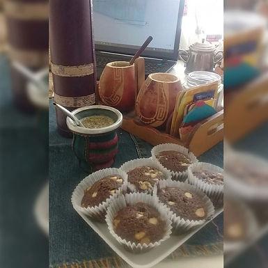 Magdalenas con chips de chocolate blanco - Pampa Vieja