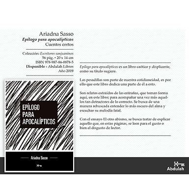 Epílogo para apocalípticos - Abdulah Libros