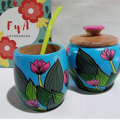 Yerbera - FyA artesanías