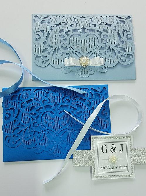 Dinefwr_Pocketfold laser cut wedding invitation