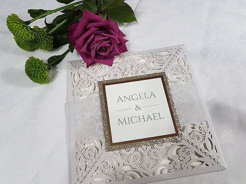 Dentelle_Laser cut wedding invitation