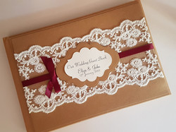 Guest Book_Rustic Lace Wrap-around Guest