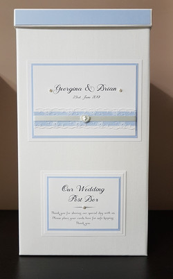 Postbox_ blush blue - ivory and lace wed