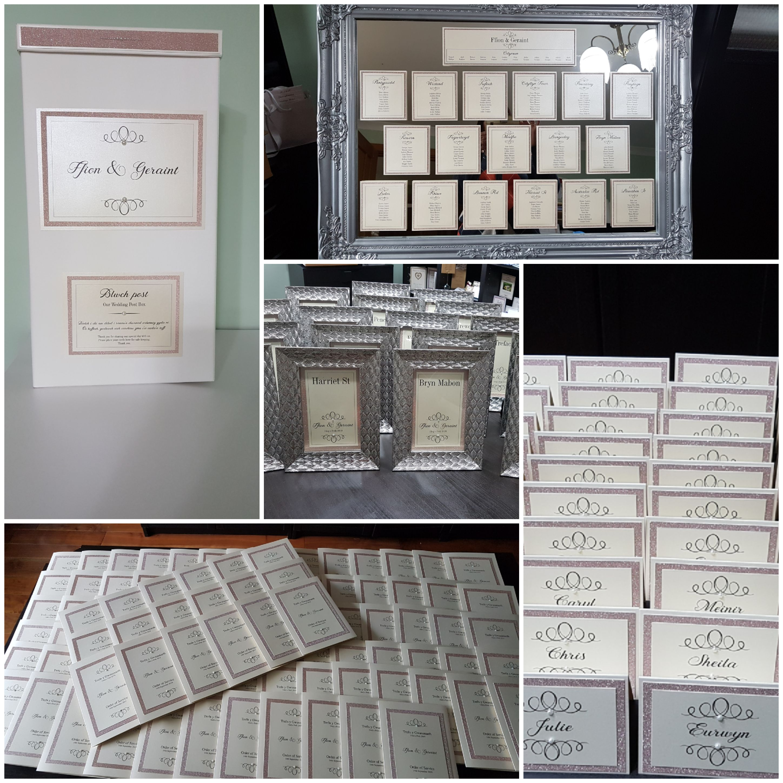 Welsh wedding stationery, post box, plac