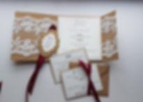 Rustic Lace Wrap-around pocketfold weddi