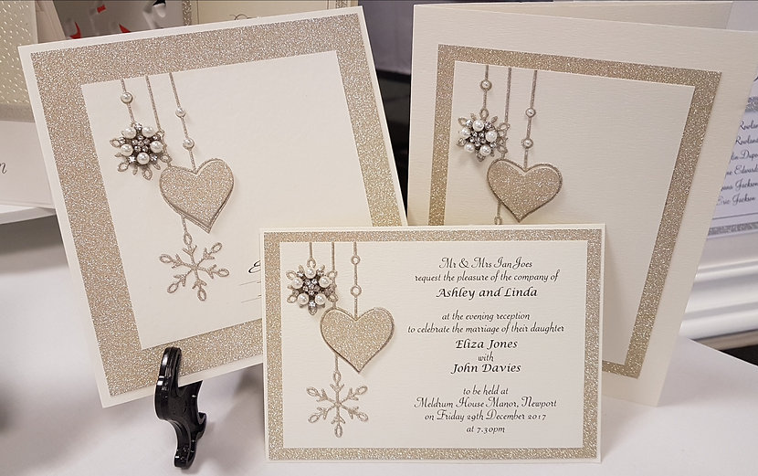 Winter/Christmas wedding invitation