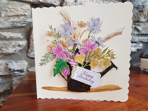 Birthday/mother's day card with a bouquet of wild flowers