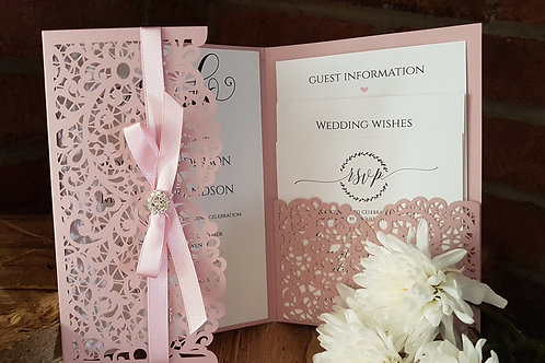 Millefleure_Pocketfold laser cut wedding invitation